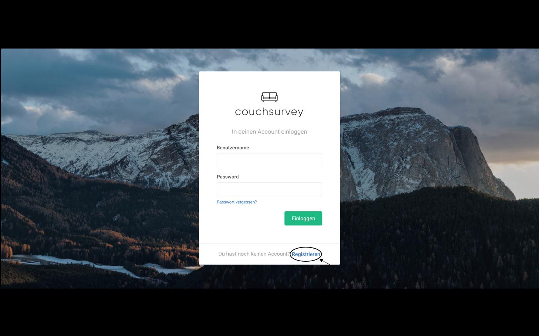 Couchsurvey-Login